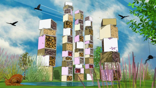 Óriási siker a rovarhotel tervpályázat