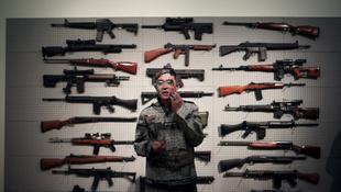 Fenyverek mögé bújt a kínai művész
