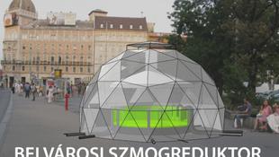 Algából készül a friss budapesti levegő