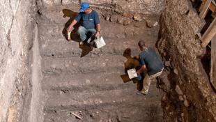 Ókori templom maradványait tárták fel Jeruzsálemben