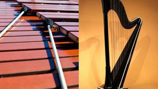 Marimba-hárfa koncert a magyar duótól