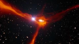 Táplálkozó galaxist találtak