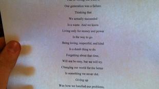 Vers a mi generációnkról