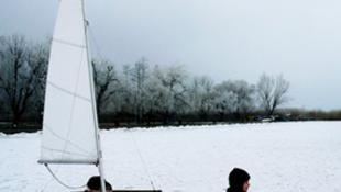 Balaton, jégen