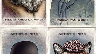 Eladó Van Gogh magyar vizslás képe