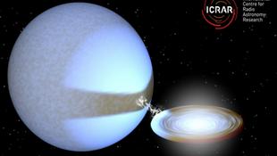 Habzsoló fekete lyukat fedeztek fel