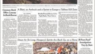 A New York Times címlapjának harmadán: a mi lovunk!