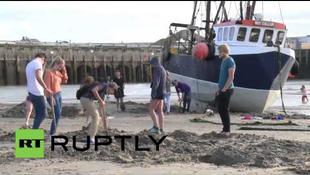 Aranyásók tűntek fel a brit strandon