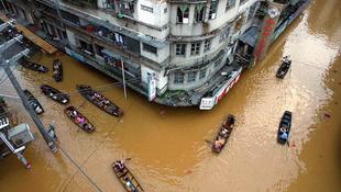 A kínai partvidéket elnyelheti a víz