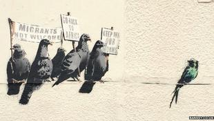 Eltávolították Banksy új alkotását