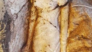 Fáraólány szobrára bukkantak a templomnál