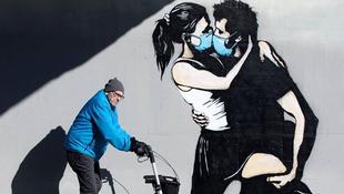 Itt vannak a legjobb koronavírus-graffitik