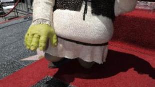 Shrek is helyet kapott a  Hollywood-i hírességek sétányán