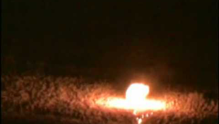 Lángolt a jeges hegy Óbányán