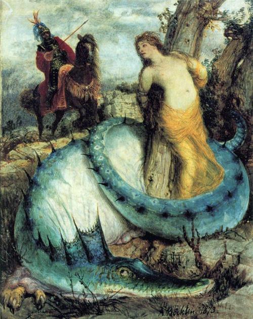 Roger és Angelica (1871-74). Nationalgalerie, Berlin.