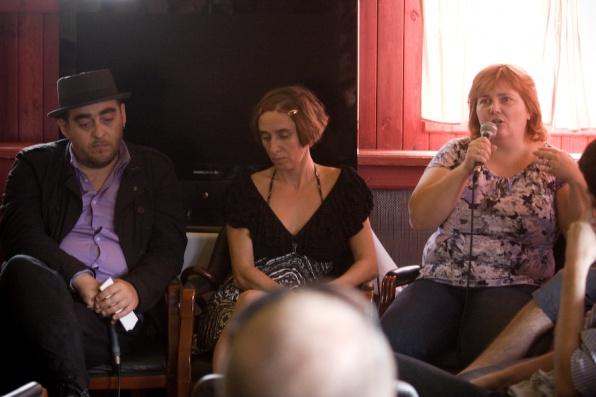 Balról: Laki László, Bende Zsuzsa, Gáncs Andrea (Fotó: Unger András)