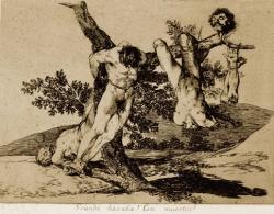 Goya egyik elképzelése a háború szörnyűségeiről