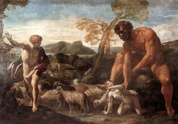 Giovanni Lanfranco: Norandinót és Lucinát felfedezi az ogre - 1624 olaj, vászon