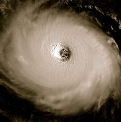 A hurrikán szeme.