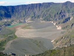 A kráter látképe a földről