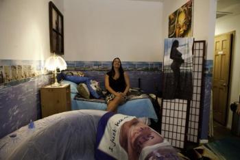 A rögtönzött szülőszoba. (Fotó: bushwickdaily.com)