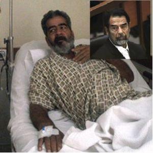Bishr a kórházi ágyban, Husszein a bíróságon.