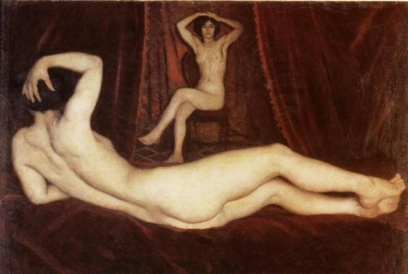 Ferenczy Károly: Cigánylány (1916 k., vászon, olaj, 95 x 140 cm); (Fotó: btmfk.iif.hu)