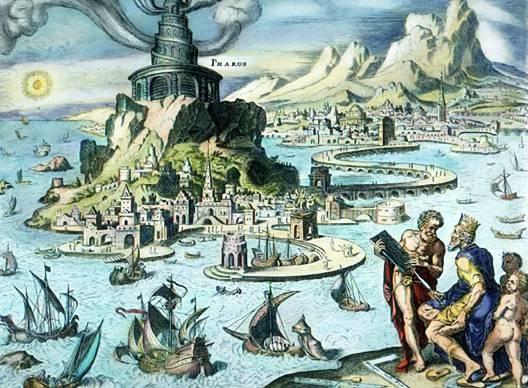 Alexandria világítótornyáról is ismert volt.