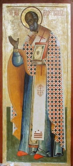Szent Miklós egy kareliai ikonon - XVIII.század