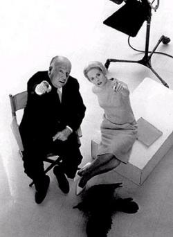 Hitchcock és Hedren egy archív felvételen