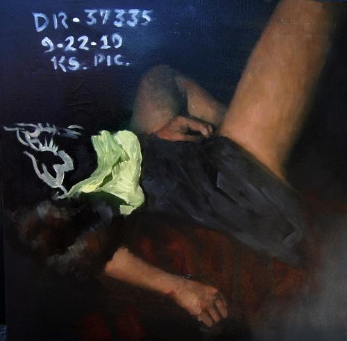 Murderers III. (2011); olaj, vászon; 50x50 cm