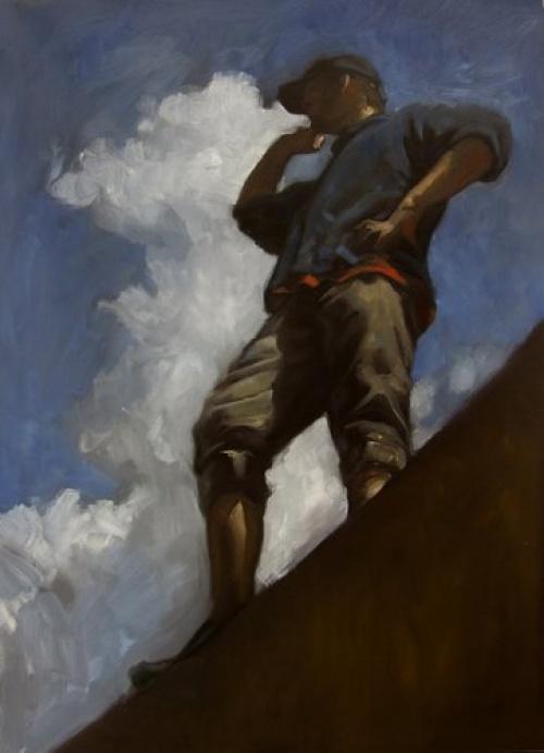 New hope (2007); olaj, vászon; 50x70 cm