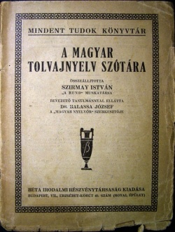 1924-es tolvajnyelv szótár
