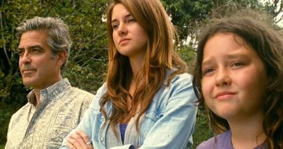 Utódok   George Clooney, Shailene Woodley és Amara Miller