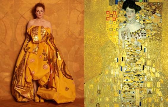 """Julianne Moore mint """"Adele Bloch Bauer"""" Gustav Klimt festményén"""
