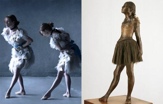 """Julianne Moore mint Edgar Degas """"Kis 14 éves táncsoslány""""-a"""