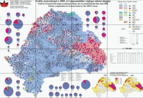 Erdély nemzetiségi térképe az adatbank.ro oldalon
