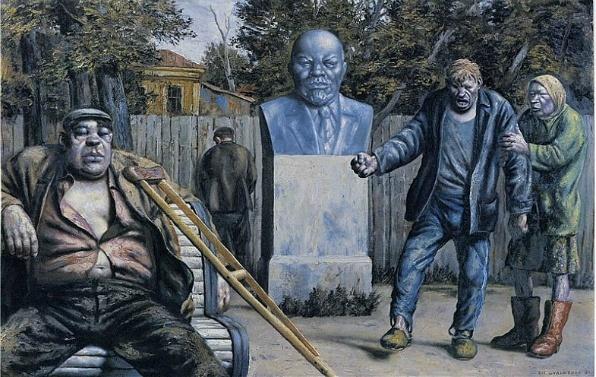 Park - 1991, olaj, vászon (125x200)