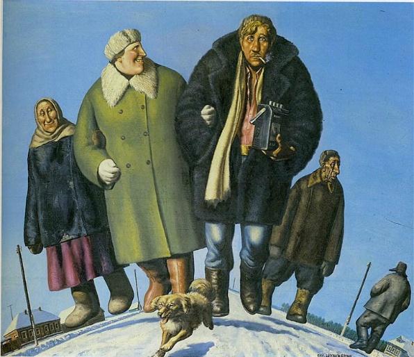 A vidéki úton - 1989, olaj, vászon (170x200)