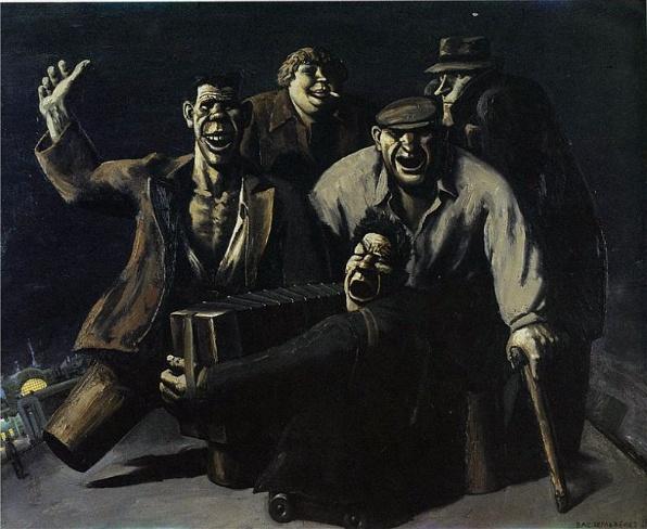 Éjszaka a pályaudvaron - 1988, olaj, vászon (150x200)