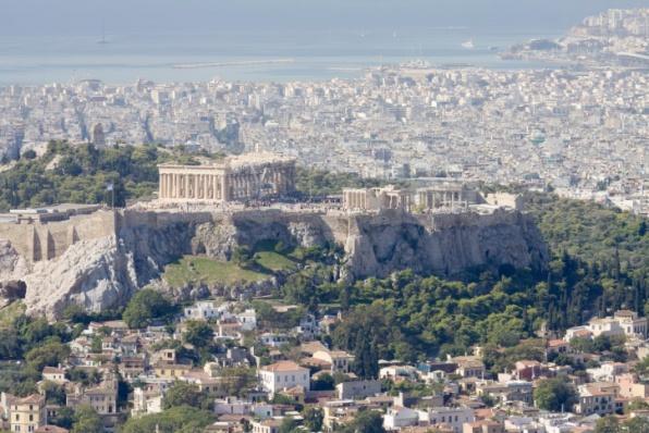 Athén látképe