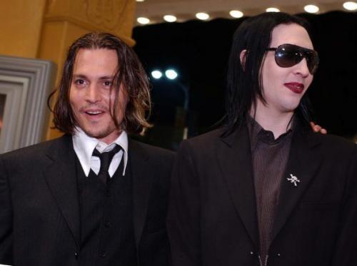 Johnny Depp és Marilyn Manson (fotó: deaddoll.wrzuta.pl)
