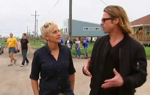 Brad Pitt és Ellen DeGeneres New Orleans-ban