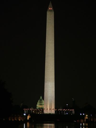 A National Mall a Capitolium (hátul) és a Lincoln emlékmű közötti hatalmas terület. A kettő között emelkedik a Washington emlékmű is. (fotó: Kalocsai Kristóf)