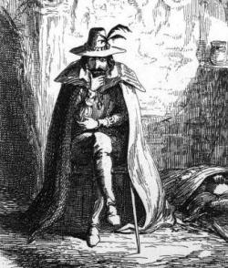George Cruikshank illusztrációja Guy Fawkes-ról 1840-ből