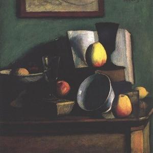 Czigány Dezső: Csendélet almákkal és tállal (c. 1915)