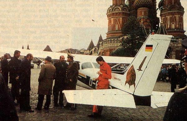 Rust gépével a Vörös téren