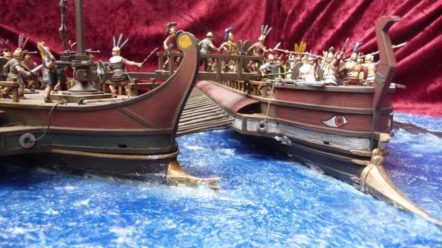 A jellegzetes ókori hadihajók modellje