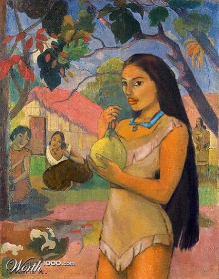 Pocahontas és Gauguin