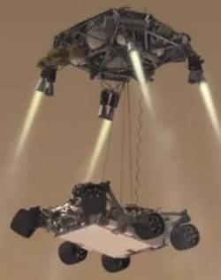 A Skycrane és a Curiosity